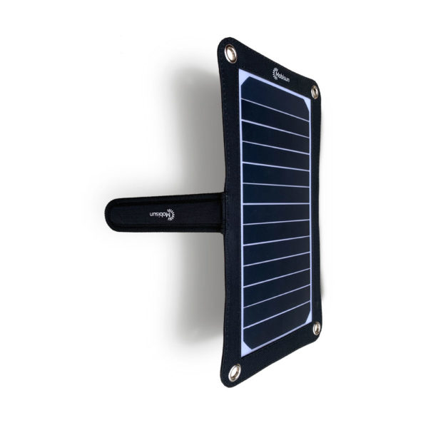 Mobisun lightweight 7,5W portable USB solar panel stand above