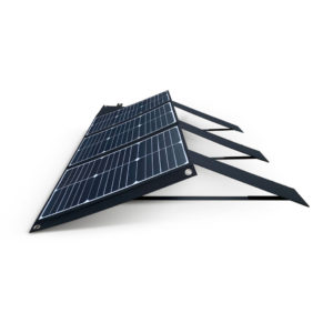 60W Mobisun portable solar panel side folded out